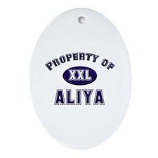 Property of aliya Oval Ornament