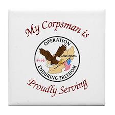 operation enduring freedom my Tile Coaster