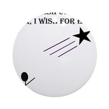 Wish upon a star Round Ornament