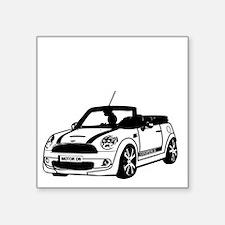 """R52 Mini Convertible Outsid Square Sticker 3"""" x 3"""""""