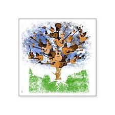 "guitar tree color Square Sticker 3"" x 3"""