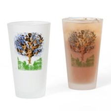 guitar tree color Drinking Glass
