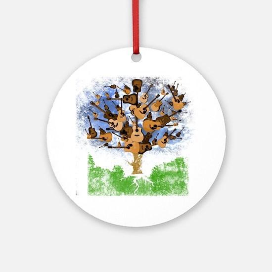 guitar tree color Round Ornament