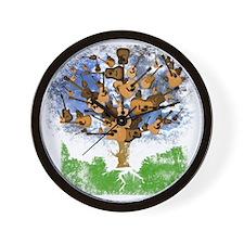 guitar tree color Wall Clock