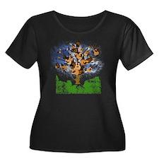 guitar t Women's Plus Size Dark Scoop Neck T-Shirt