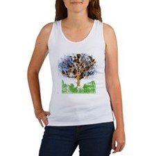 guitar tree color Women's Tank Top