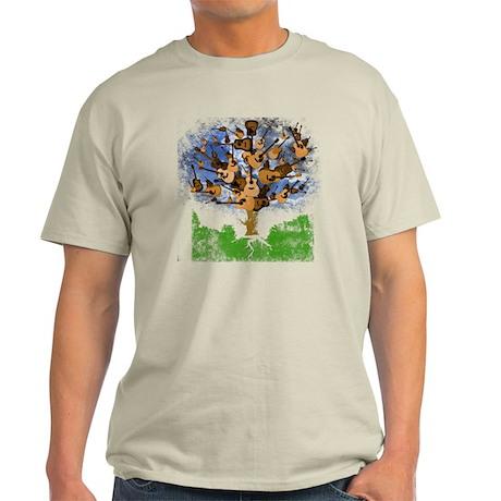 guitar tree color Light T-Shirt