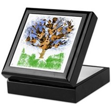 guitar tree color Keepsake Box