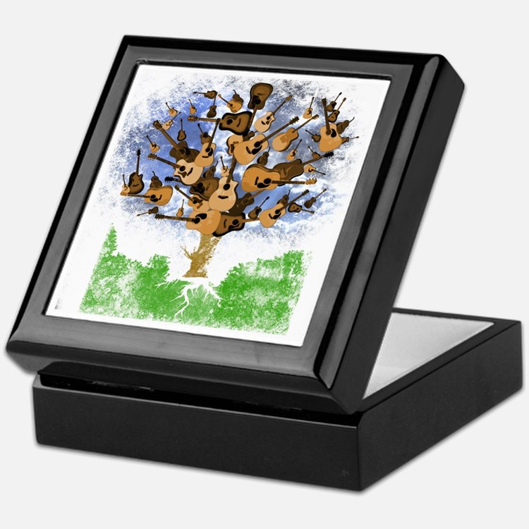 guitar tree color Keepsake Box