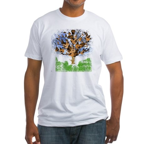 guitar tree color Fitted T-Shirt