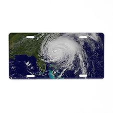 Hurricane Irene poster 2 Aluminum License Plate