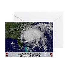 Hurricane Irene poster 2 Greeting Card