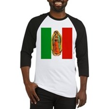 Virgen de Guadalupe - Mexican Flag Baseball Jersey