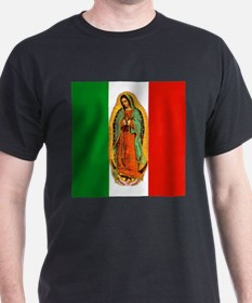 Virgen de Guadalupe - Mexican Flag T-Shirt