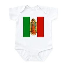 Virgen de Guadalupe - Mexican Flag Infant Bodysuit