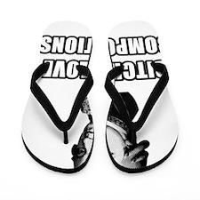 Bitches-mozart Flip Flops