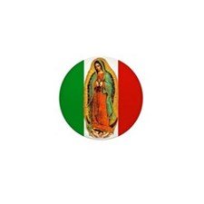 Virgen de Guadalupe - Mexican Flag Mini Button