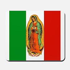 Virgen de Guadalupe - Mexican Flag Mousepad
