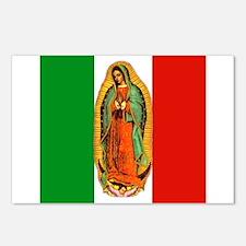 Virgen de Guadalupe - Mexican Flag Postcards (Pack