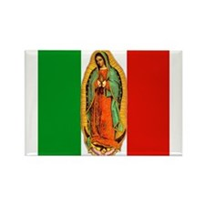 Virgen de Guadalupe - Mexican Flag Rectangle Magne