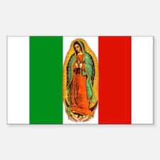 Virgen de Guadalupe - Mexican Flag Decal