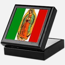 Virgen de Guadalupe - Mexican Flag Keepsake Box