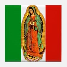 Virgen de Guadalupe - Mexican Flag Tile Coaster
