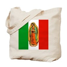 Virgen de Guadalupe - Mexican Flag Tote Bag