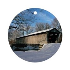 Covered Bridge Round Ornament