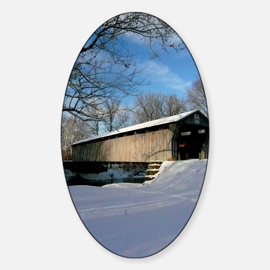 Covered Bridge Sticker (Oval)