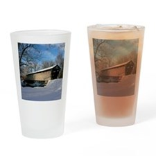 Covered Bridge Drinking Glass