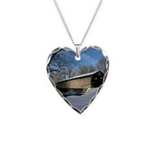 Covered Bridge Necklace Heart Charm