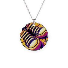 Converse Necklace Circle Charm