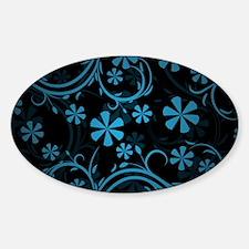 Black Blue Paisley Decal