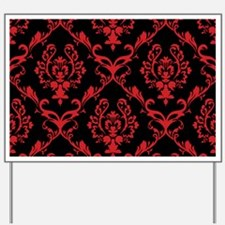 black red wallpaper Yard Sign
