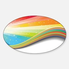 rainbow wave Decal