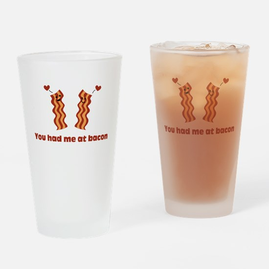Bacon Love Drinking Glass