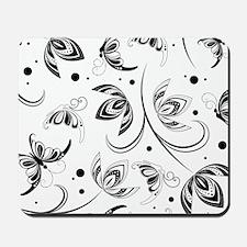 white black paisley Mousepad