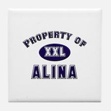 Property of alina Tile Coaster
