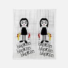 gothbrokenflipflops Throw Blanket