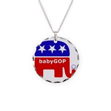 Baby GOP_Blue Necklace Circle Charm