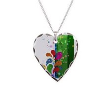 green stripe floral Necklace