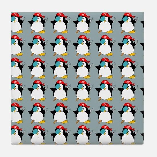 piratepenguinflipflips Tile Coaster
