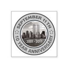 "September 11 Anniversary 4 Square Sticker 3"" x 3"""