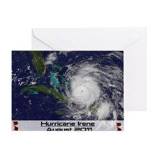 Hurricane Irene poster Greeting Card