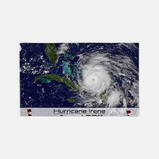 Hurricane Irene poster 3'x5' Area Rug