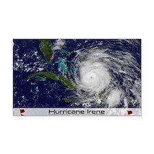 Hurricane Irene poster Rectangle Car Magnet