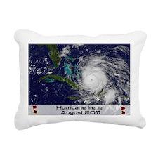Hurricane Irene poster Rectangular Canvas Pillow