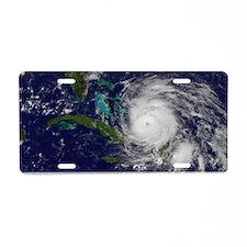 Hurricane Irene poster Aluminum License Plate
