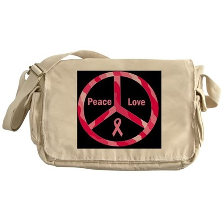 breast canceraaaaaatwilightpeacefill Messenger Bag